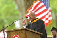 U.S. Rep John Lewis (D-Ga.) spoke to UM School of Law graduates during the school's commencement ceremony Saturday, May 10 in the Grove.