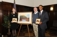 Caroline Shepard, Professor David Case, and Irving Jones at the Pace competition.