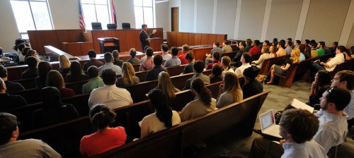 Image of Students in Moot Court