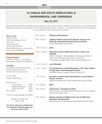 mid south ag and environmental law conference