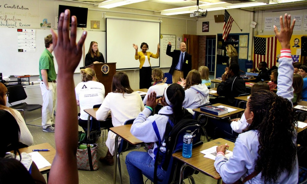 Pro bono students education high school students about tenants' rights