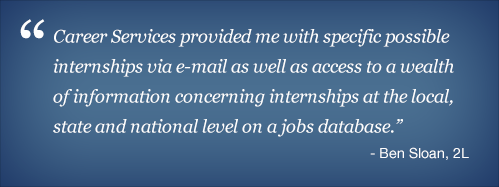 Career Services Testimonial